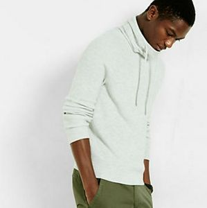 Ribbed Funnel Neck Sweater by Express - L/G